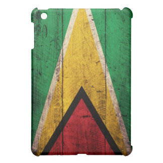 Old Wooden Guyana Flag Case For The iPad Mini