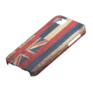 Old Wooden Hawaii Flag; iPhone 5 Case