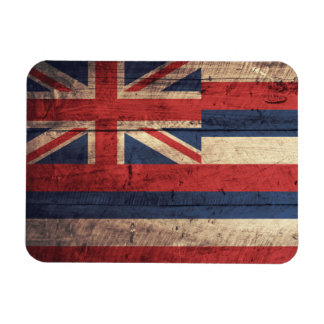 Old Wooden Hawaii Flag; Magnet