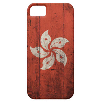 Old Wooden Hong Kong Flag iPhone 5 Cases