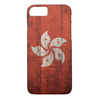 Old Wooden Hong Kong Flag iPhone 7 Case