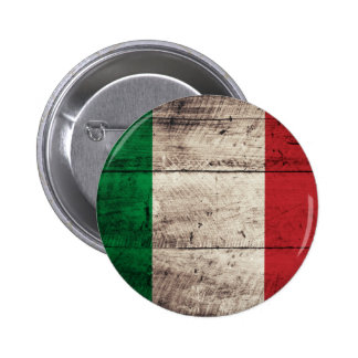 Old Wooden Italy Flag Button
