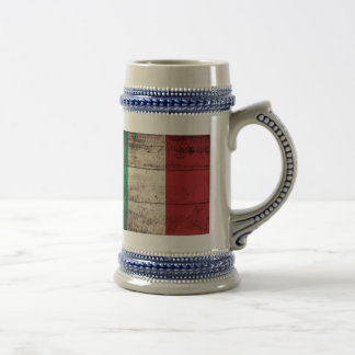 Old Wooden Italy Flag Coffee Mug