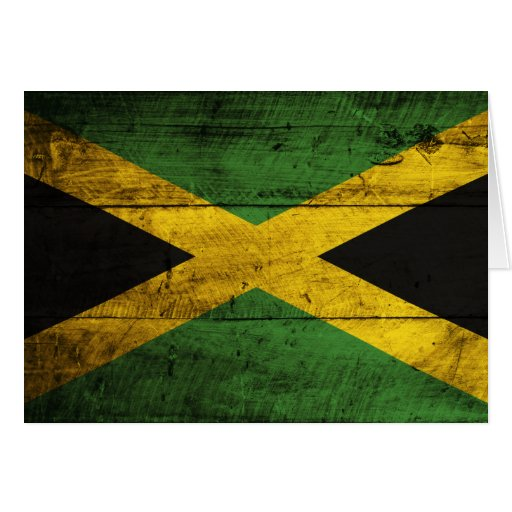 Old Wooden Jamaica Flag Cards