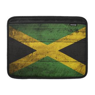 Old Wooden Jamaica Flag MacBook Sleeves