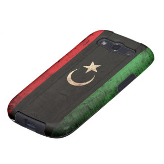 Old Wooden Libya Flag Samsung Galaxy S3 Cover