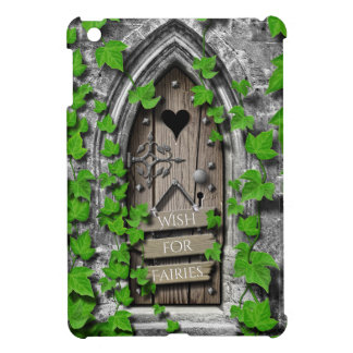 Old Wooden Magical Fantasy Fairy Wishing Door Case For The iPad Mini