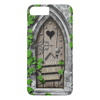 Old Wooden Magical Fantasy Fairy Wishing Door iPhone 8 Plus/7 Plus Case