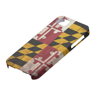 Old Wooden Maryland Flag iPhone 5 Covers