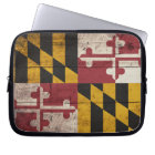 Old Wooden Maryland Flag Laptop Sleeve