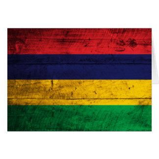 Old Wooden Mauritius Flag Note Card