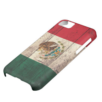Old Wooden Mexico Flag Case For iPhone 5C