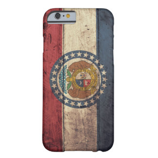 Old Wooden Missouri Flag; Barely There iPhone 6 Case