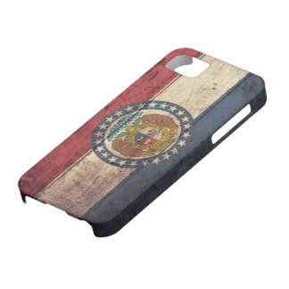 Old Wooden Missouri Flag; Case For The iPhone 5