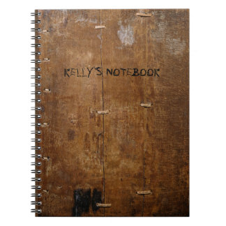 "Old ""Wooden"" Notebook with (or without) your Name"