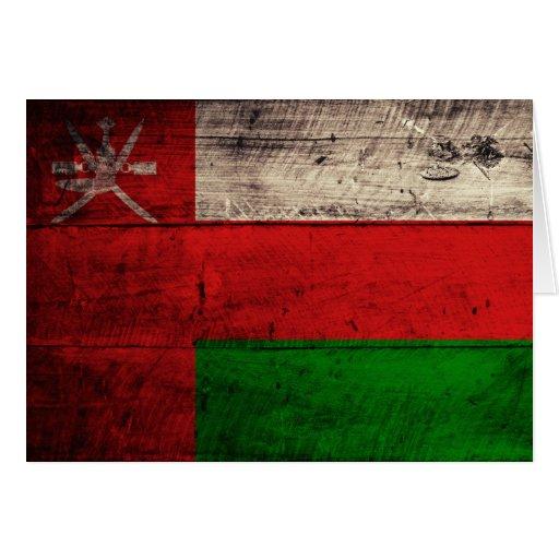 Old Wooden Oman Flag Cards
