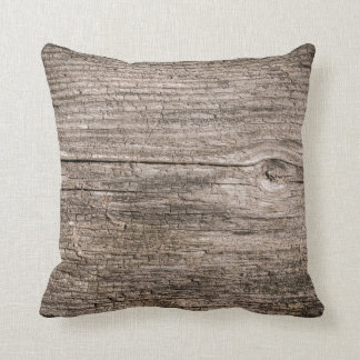 Old wooden planks cushion