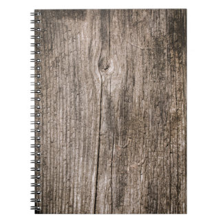 Old wooden planks notebook