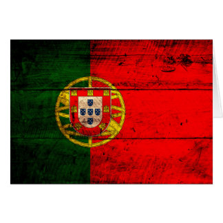 Old Wooden Portugal Flag Cards