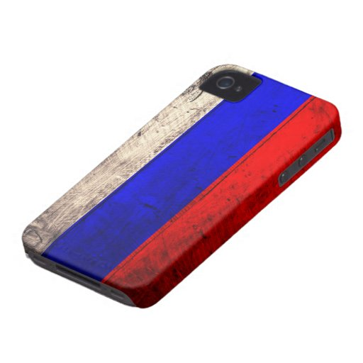 Old Wooden Russian Flag Case-Mate Blackberry Case