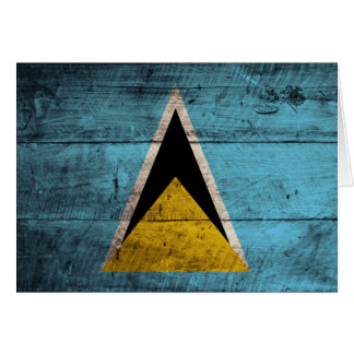 Old Wooden Saint Lucia Flag Note Card