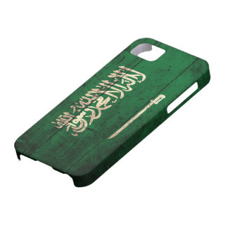 Old Wooden Saudi Flag Case For The iPhone 5