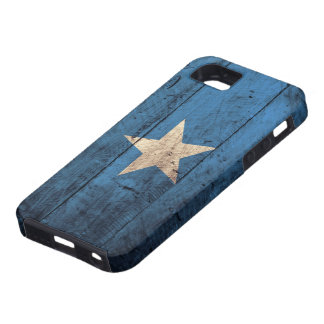 Old Wooden Somalia Flag Case For The iPhone 5