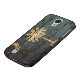 Old Wooden South Carolina Flag; Galaxy S4 Covers