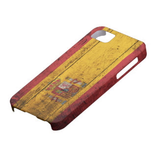Old Wooden Spain Flag iPhone 5 Cases