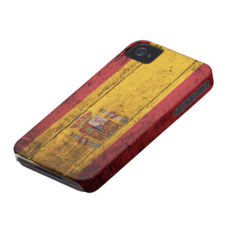 Old Wooden Spain Flag iPhone 4 Case