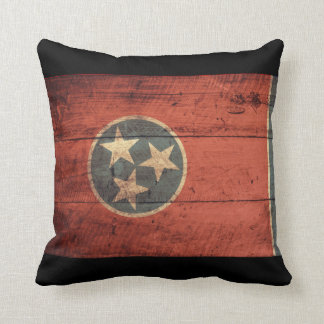 Old Wooden Tennessee Flag Cushion