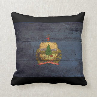 Old Wooden Vermont Flag; Cushion