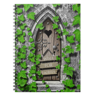 Old Wooden Wish Magical Fantasy Fairy Wishing Door Notebook