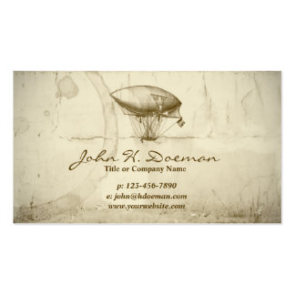 Old World Balloon Pack Of Standard Business Cards