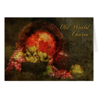 Old World Charm Greeting Card Cards
