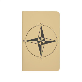 Old World Compass Pocket Journal