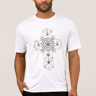 Old World Cross (back + front) t-shirt