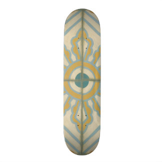 Old World Decorative Tile Pattern 20 Cm Skateboard Deck