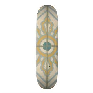 Old World Decorative Tile Pattern Skateboard Deck