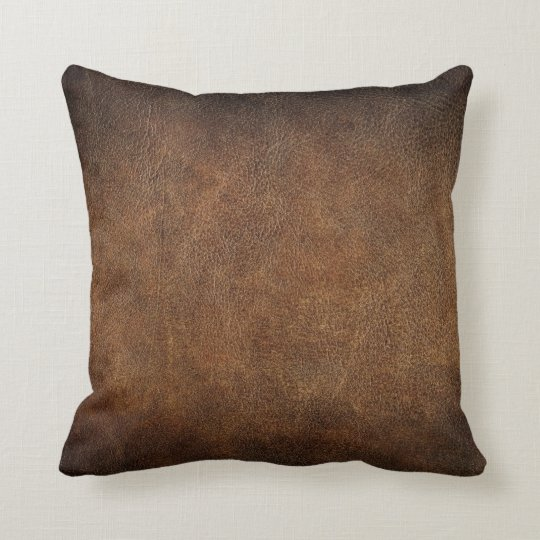 How To Make A Leather Throw Pillow : Old World Faux Leather Throw Pillow Zazzle