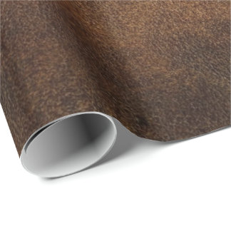 Old World Faux Leather Wrapping Paper