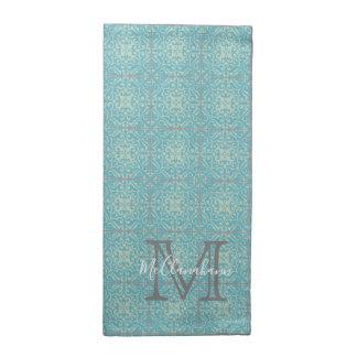 Old World Fleur-de-lis Floral Tile Cloth Napkins