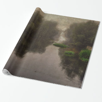 Old World Landscape Fine Art Painting Wrapping Paper
