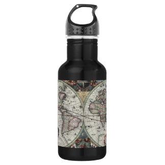 Old World Map 1630 532 Ml Water Bottle