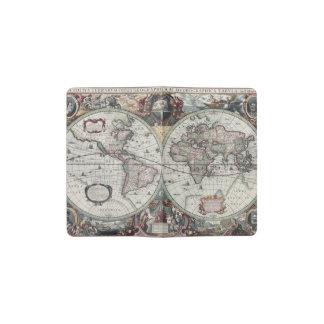 Old World Map 1630 Pocket Moleskine Notebook