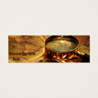 old world map bookmark mini business card