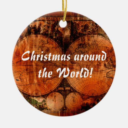 Old World Map Christmas Ornament