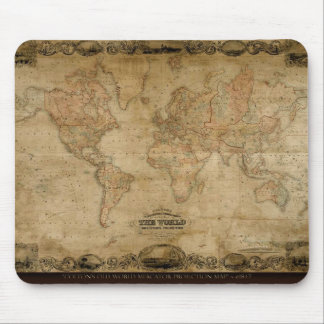 Old World Map Designer Gift Mouse Pad