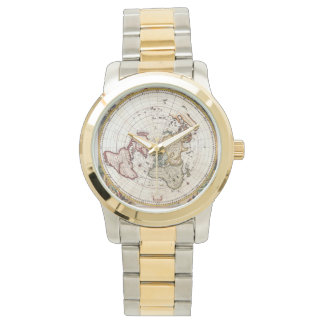Old World Map Man's Watch