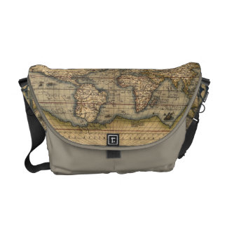 Old World Map Messenger Bag